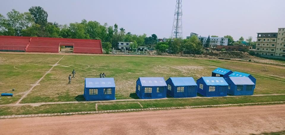 नेपाली सेनाको सहायतमा सुदूरपश्चिम प्रदेश सरकारले धनगढी रंगशालामा आइसोलेसन कक्ष स्थापना गरेको हो।