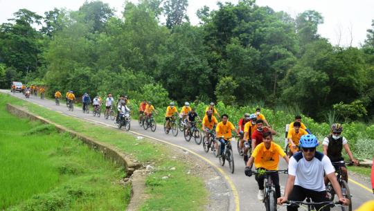 धनगढी कोरा २०२१ साइक्लिङ च्यालेन्ज सम्पन्न भएको छ।
